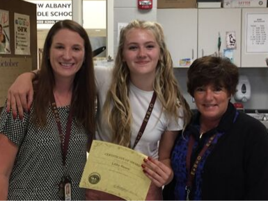 Congratulations to Libby Henry on receiving the Author Scholarship!