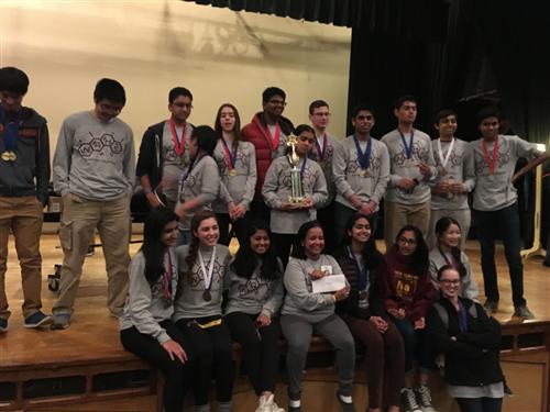 NAHS Science Olympiad Grandview First Place