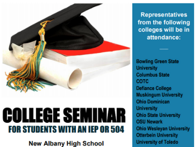 College Seminar Opportunity for Students with an IEP or 504