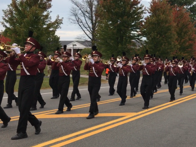 Marching Band in homecoming parade