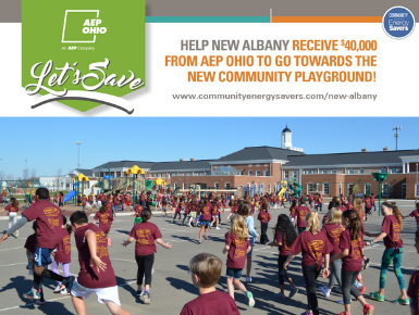 Help us earn a $40,000 AEP Ohio grant for a new community playground!