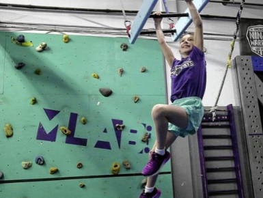 New Albany 7-year-old Ava Laine jumps at ninja challenges