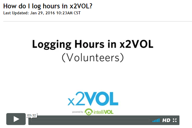 How do I log hours in x2VOL?