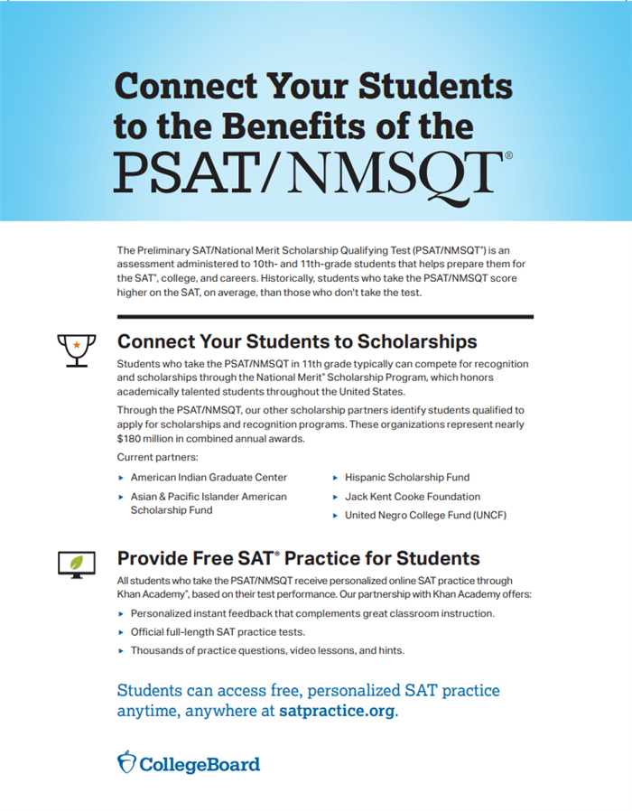 School & College Counseling / PSAT