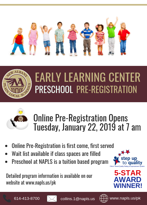 Preschool Open House and Pre-Registration Flyer Image