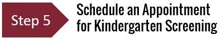 Kindergarten Screening Appointment Link