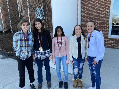 middle school science fair students